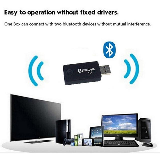 Música De Áudio Bluetooth Transmissor Para TV Computador USB Bluetooth 3.5mm Adaptador de Áudio Música Receptor