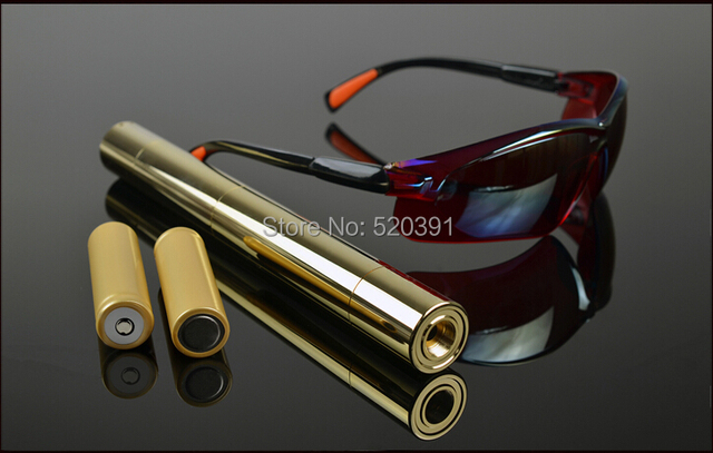 Strong Full brass housing 300000mw 300Watt 450nm blue laser pointer burning match/dry wood/candle/cigarettes+Glasses+Charger+box