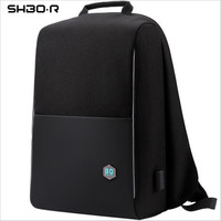 Business Backpack Men Laptop Backpacks 15.6 Inch Waterproof Male Women Bags USB Charging Back Pack Notebook Black Travel Bagpack