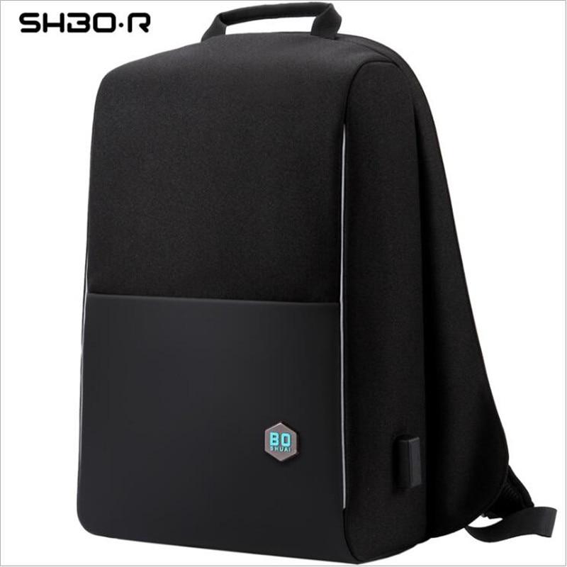 Sac à dos d'affaires sacs à dos pour ordinateur portable pour homme 15.6 pouces imperméable hommes femmes sacs USB chargement sac à dos portable noir voyage sac à dos