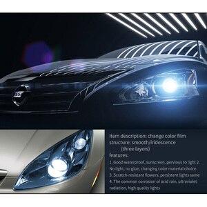 Подвесной светильник для автомобиля, 11 цветов, задний светильник, тонировка, виниловая пленка, наклейка, противотуманный светильник, задняя...