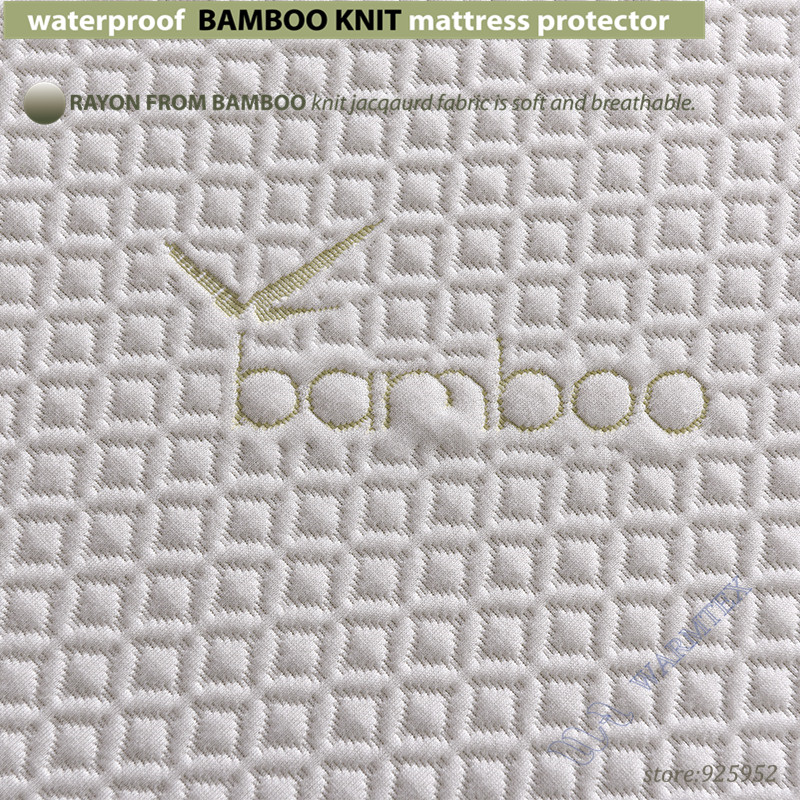 twin size 100x200cm waterproof Bamboo Knit Jacquard mattress Protector Jacquard cloth mattress cover 100% Waterproof W015 A