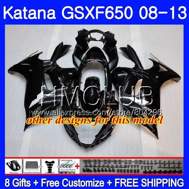 Оранжевый черный комплект для SUZUKI KATANA GSXF 650 650F GSX650F 08 09 10 11 12 13 24HM.2 GSXF650 2008 2009 2010 2011 2012 2013 обтекатель