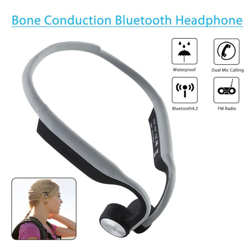 Tüketici Elektroniği'ten Bluetooth Kulaklık & Kulaklıklar'de Kulaklık BH02 kablosuz kulak ücretsiz kemik iletim Stereo Bluetooth kulaklık kulaklık IP67 için su geçirmez koşu bisiklet sürüş title=