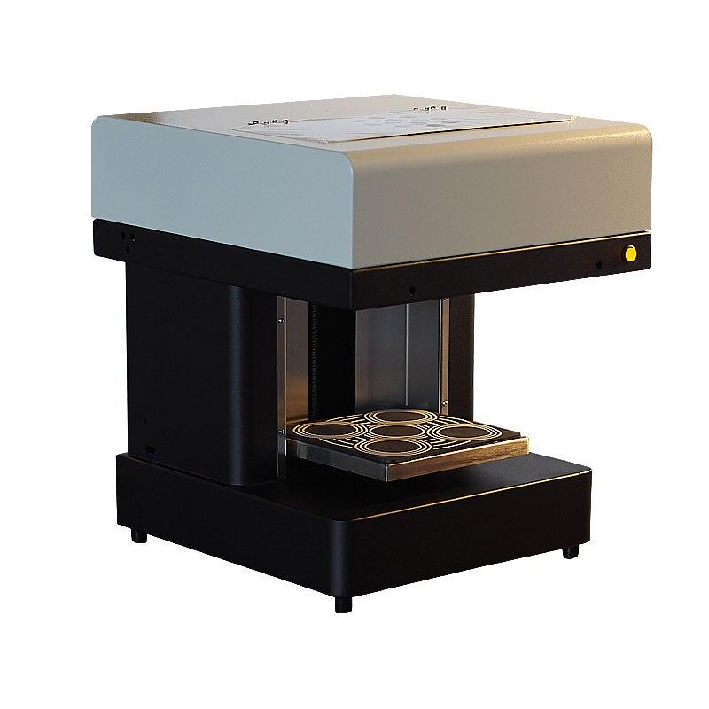 4 cups Selfies laat koffie printer milktea pizza taart bitterkoekje snoepjes Flatbed Voedsel Printer omvatten eetbare inkt