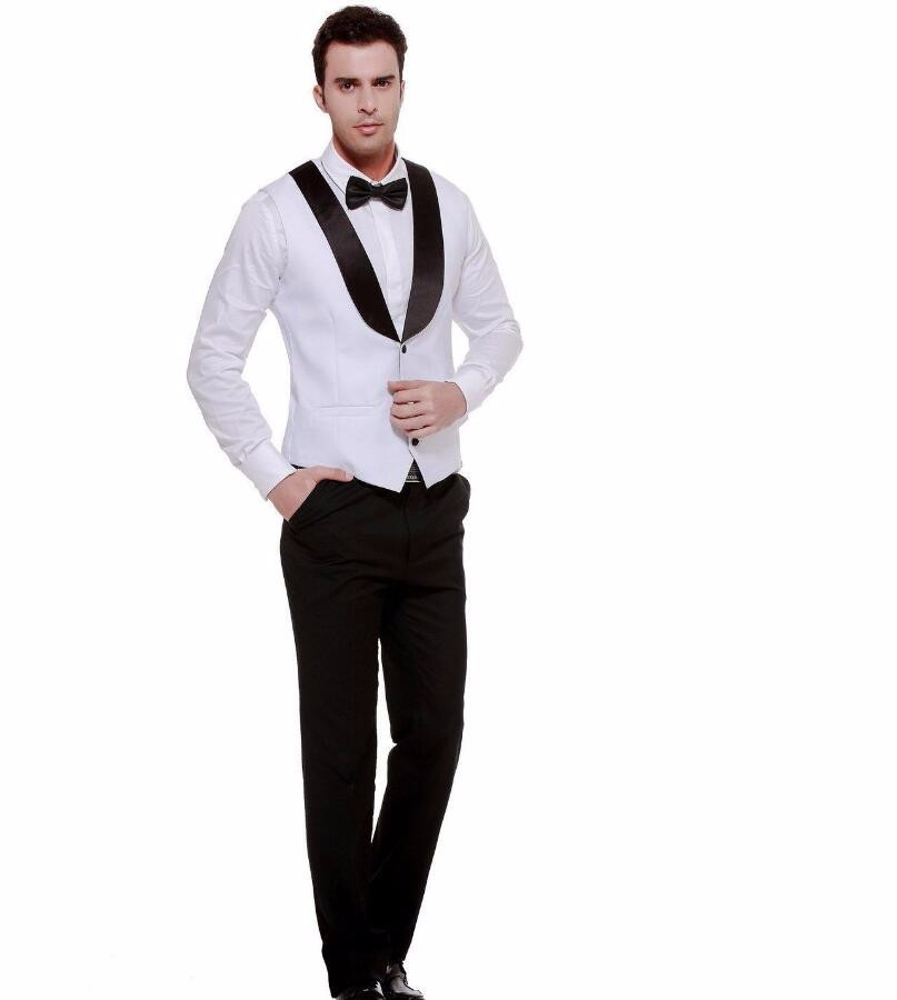 34.1 Formal White color Men\'s Waistcoat New Arrival Fashion Groom Vests Casual Vest Custom Made hot sell new style