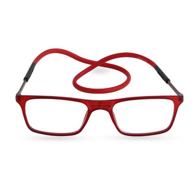 Das Mulheres Dos Homens marca Designer Óculos de Leitura Magnética Óculos  gafas Oculos Dobrável Óculos de 4ff6517c0d