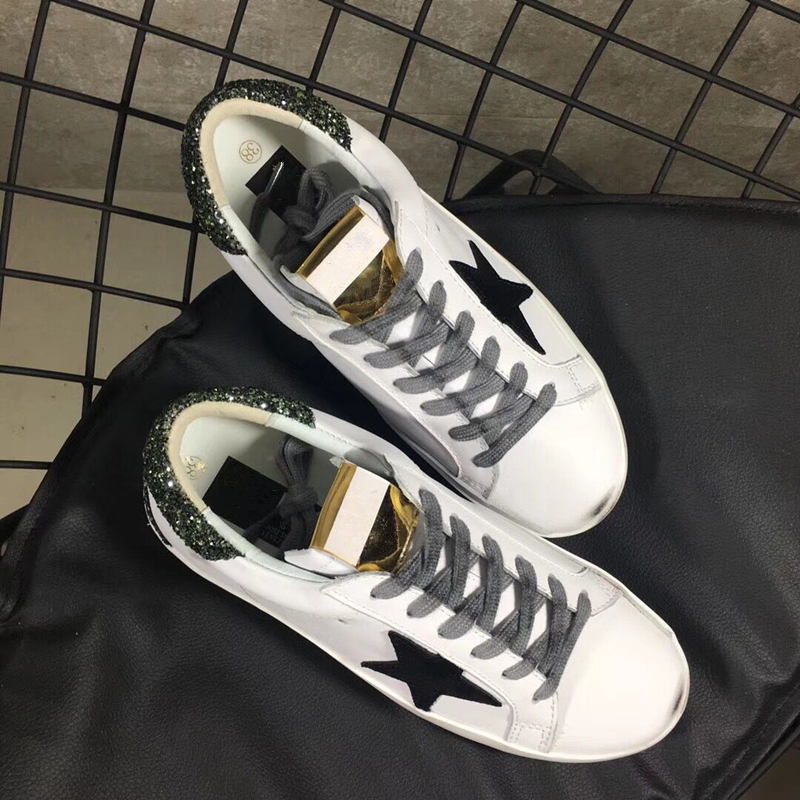 White Genuine Leather Women Dirty Shoes Sport Black Star Shoes Small White Rough Surface Women Casual Shoes Do Old Dirty Shoes tiffany ems free shipping tiffany pendant light fashion romantic lighting rustic lamps restaurant lamp df68