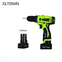 Xltown the new 25v two speed rechargeable lithium battery electric screwdriver with 2 battery Electric screwdriver