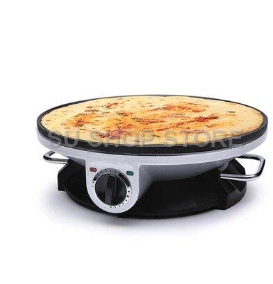 Elektrische Crepe Maker Pizza Pfannkuchen Maschine Non stick Bratpfanne backform Kuchen maschine küche kochen werkzeuge - 5