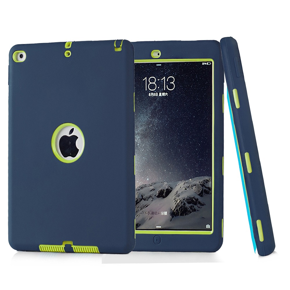 Armor Shockproof Case For apple iPad Air 2 Impact Resistant Hybrid 3 Layer Silicone Combo Case Full Body Protector for ipad 6 air air the vigin suicides limited edition 2 cd 3 lp