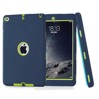 Armor Shockproof Case For Apple IPad Air 2 Impact Resistant Hybrid 3 Layer Silicone Combo Case