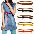Americano salvaje Sra. cinturón de cuero cinturón de cuero fino anudado en la el extremo con una falda decoradas modelos femeninos de charol faja