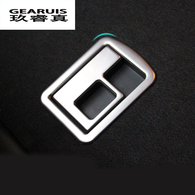 New Design Stainless Steel Car Rear Trunk Switch Button Decoration Cover Trim Interior Molding For Audi A3 Styling