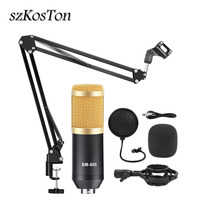 Condenser Microphone BM 800 Professional Microphone for Computer Professional Studio Vocal Rrecording Microphone for Karaoke