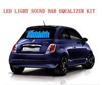 EL Musique Sonore Activé Autocollant De Voiture Light Up Equalizer pour Décoration De Voiture (longueur 46 cm)