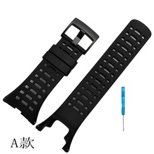 New! Watch Accessories Rubber Silicone Strap For SUUNTO AMBIT 3 PEAK / Ambit 2/ Ambit 1Men Watch's  Replacement Rubber wristband hot sale for suunto ambit 3 peak ambit 2 drop watchband luxury rubber watch replacement band strap black pvd clasp tool
