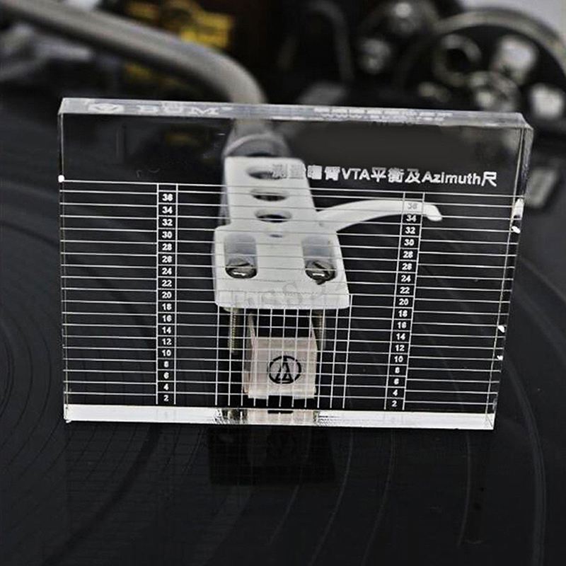 <font><b>LP</b></font> Azimuth Ruler Vinyl Record Player Measuring Phono Tonearm VTA/CartridgeBalance <font><b>Cartridge</b></font> Azimuth Ruler Headshell Turntable image