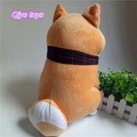 1 шт. 25 см желтый носить шарф шиба ину собака плюшевая игрушка мягкая игрушка собака хорошие подарки для подруги