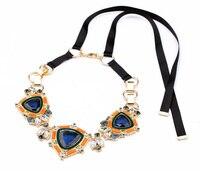 2014 Morden Girl Black Ribbon Necklace