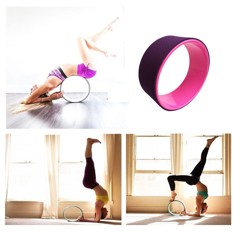 1*Yoga Pilates Wheel Circle Ring Back ABS Training Tool Fitness Gym Home Workout circle
