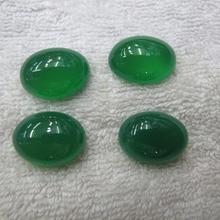 Природный зеленый агат халцедоновые бусы кабошон 15x20 мм овальные ювелирный камень кобошон 20 шт./лот