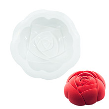 цена на 3D Silicone Mold Rose Flower Shape Mousse Pan Chocolates Cake Mold Baking Cake Decorating Tools DIY  Dessert For Cakes Pastry