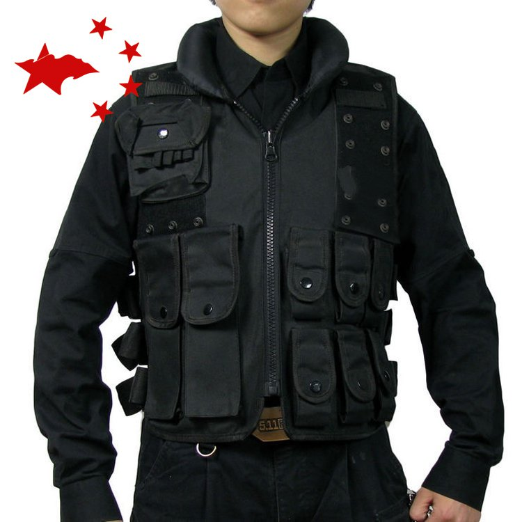 Multifunctional clothing stab stab tactical vest CS field outdoor photography vest fishing airsoft adults cs field game skeleton warrior skull paintball mask