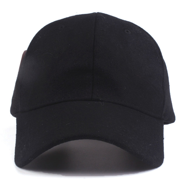 6d5c4859f8a Online Shop Xthree solid men s wool baseball cap winter cap warm bone  snapback hat gorras fitted hats for women