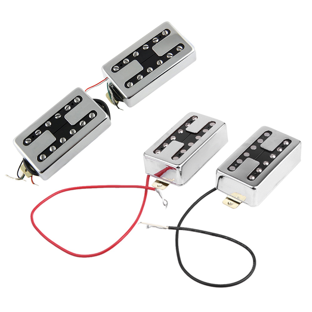 1 Pair Copper Plating LP Electric Guitar Humbucker Pickup Single/Double Row Adjustable Screw Pin Pickup with H-shaped housing syh 02 lp electric guitar pickup cover white silver pair