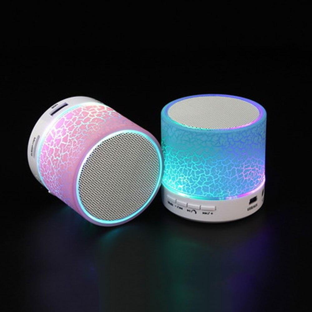 Mme gagner A9 Mini Sans Fil Bluetooth Haut-Parleur Portable Subwoofer Stéréo Lecteur de Musique avec TF USB LED Lumière Fissure Haut-parleurs 5 pcs