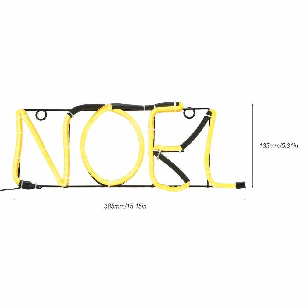 Neon Sign NOEL Luce Alfabeto Disegno di Figura Della Parete Della Stanza Decorazioni Per La Casa Amore Ornamento di Caffè Bar Murale Artigianato