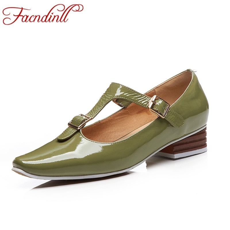FACNDINLL spring autumn women pumps genuine leather middle heels pointed toe shoes woman dress office party office ladies pumps facndinll women pumps fashion middle heels pointed toe shoes woman square toe shoes ladies offcie dress casual date woman pumps