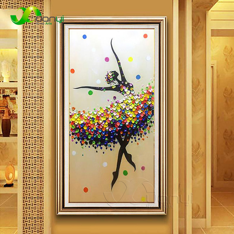 Handpainted Abstract Oil Painting On Canvas Women Dancing Knife Painting Handmade Wall Art Decoration For Living Room Unframed