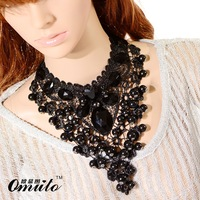 Sexy lace necklace exaggerated DS Jazz Dance Girl Jewelry Wholesale Retro Palace Lace Costume Accessories Wholesale