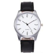 Simple Casual Fashion Mens Simple Business Fashion Leather Quartz Wrist Watch 2018 Hot