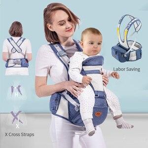 Image 2 - Sunveno Atmungsaktive Baby Träger Ergoryukzak Vorne Baby Carrier Komfortable Sling für Neugeborene