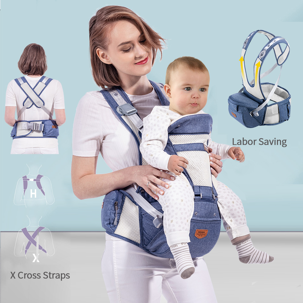 Image 2 - Sunveno Breathable Baby Carrier Ergoryukzak Front Facing Baby Carrier Comfortable Sling for Newborns-in Backpacks & Carriers from Mother & Kids