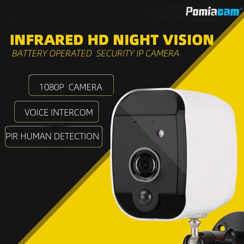 T1 caméra 1080 P sans fil IP batterie alimenté CCTV caméra de sécurité