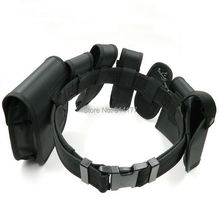 New Tactical Belt Multifunctional Security Belts Outdoor Training Polices Guard Utility Heavy Duty Combat  8pcs/sets