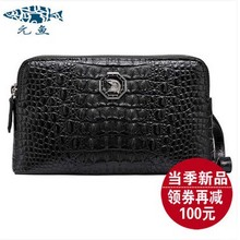 yuanyu 2016 new alligator handbags male crocodile leather clutch  male crocodile men clutch  male large capacity men bag