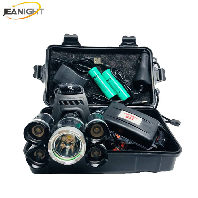 Jeanight Lampe Frontale Puissante Cree 5 Led Xml T6 Phare 20000