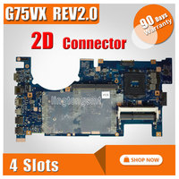 For Asus G75VX Laptop Motherboard Support I7 CPU High Quality 2D Connector G75VX Mainboard Fully Tested
