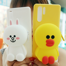 FAYDAI For Huawei P20 Lite Case 3D Cute Cartoon Wallet Phone Pro P 20 Cover Soft TPU Silicone Back