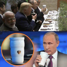 2019 New Putin Same Thermal Cup president Mug Trump G20 Toasted Cups Ceramic For Home Office