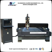 Powerful China NcStudio Controller CNC 3 axis CNC router 5.5KW Water Cooling Spindle Heavy Duty Stone CNC Router HS550M