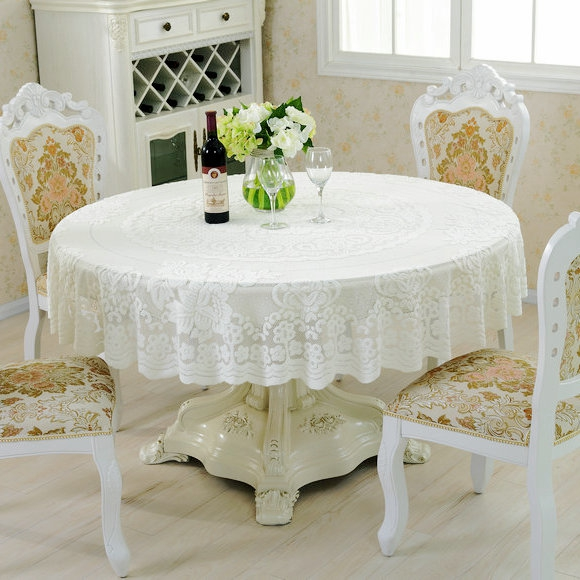 Wholesale10pcslot 180180cm Elegant Europe Lace Round Tablecloth