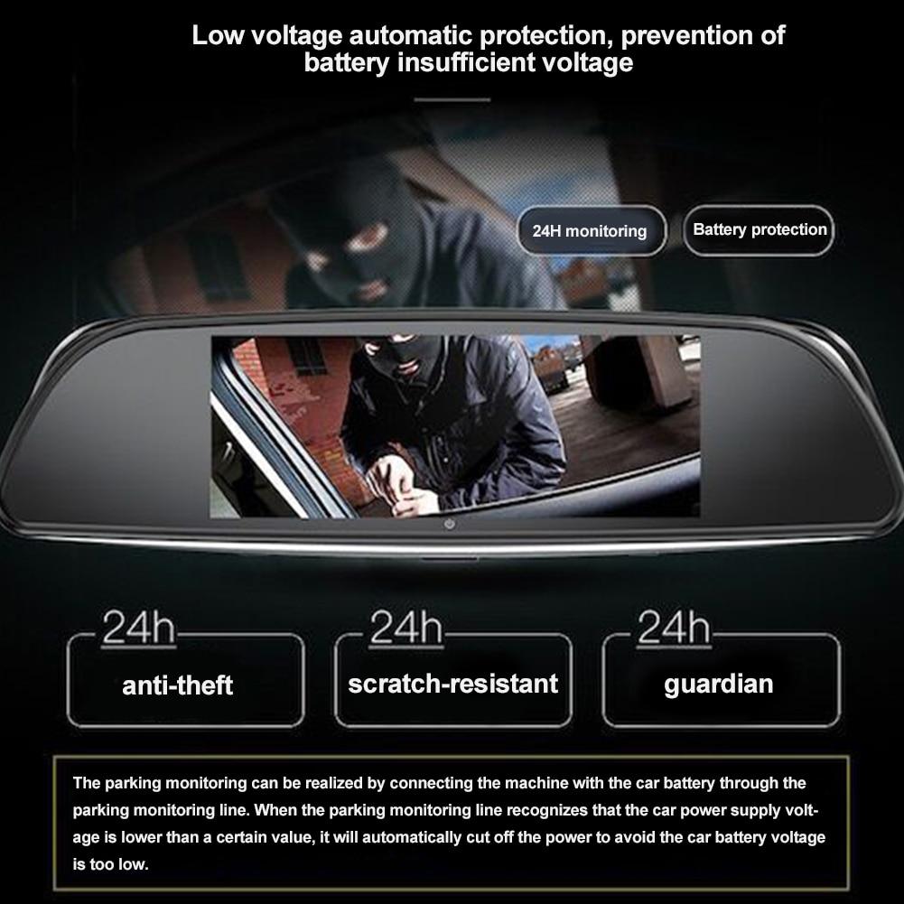 7 Android 5.1 Car Camera DVR HD 1080P Car DVR Dashcam Dual Lens Rearview Mirror Video Recorder Mirror Dash Cam DVRS plusobd car recorder rearview mirror camera hd dvr for bmw x1 e90 e91 e87 e84 car black box 1080p with g sensor loop recording