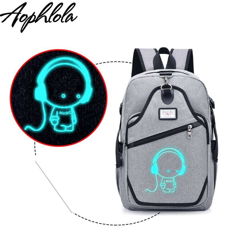 New Design USB Charging Women Backpacks Male Casual Travel Luminous Mochila Teenagers Girls Student School Bags Laptop Backpack forudesigns cute 3d dachshund dog casual shoulder backpack for women men student school bags travel backpacks laptop bag mochila