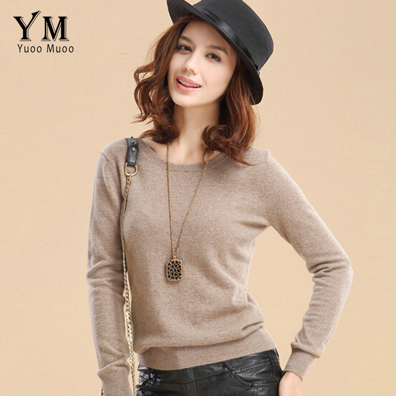 Yuoomuoo High Quality Cashmere Sweater Women Winter Pullover Solid